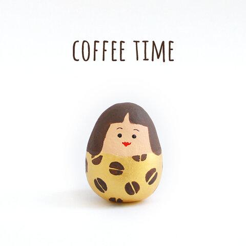 【受注制作】粘土人形*コーヒー娘 ゴールド
