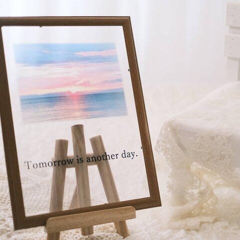 明日は明日の風が吹く〜夕日の沈む日本海〜 クリアポスター