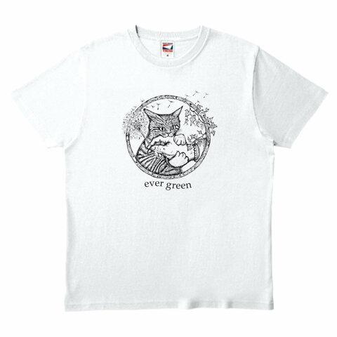 ミミグリ 噛む猫 Tシャツ