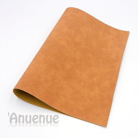 フェイクレザーフェルト A4( Brown / Stone wash )