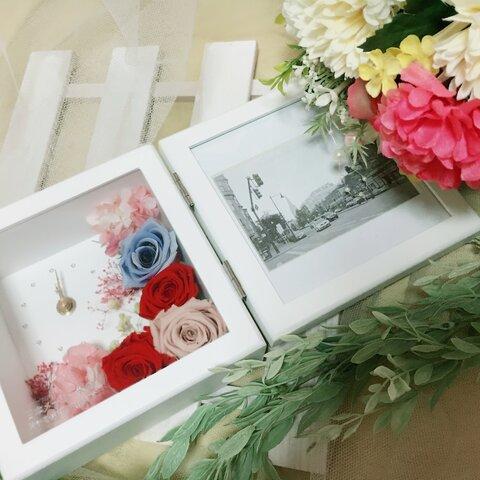 両親贈呈品 結婚祝い☆花時計ウェディング  プレゼント