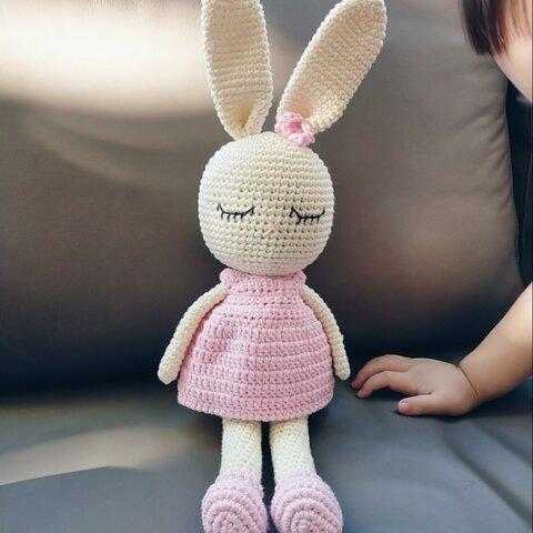編みぐるみ あみぐるみ うさぎ 出産祝い 女の子 編み 子供 誕生日 プレゼント