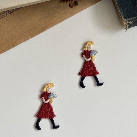 〈暮らしシリーズ〉花束/2枚セット/刺繍アイロンワッペン