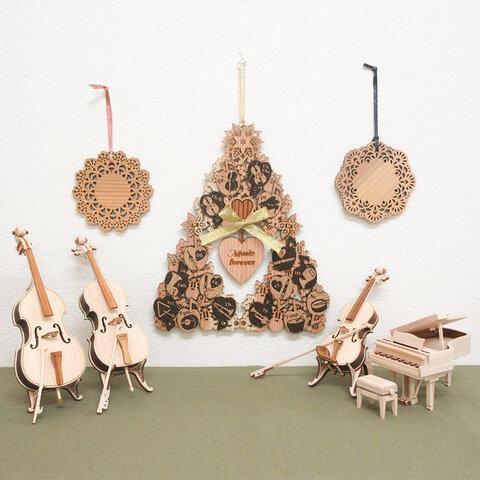 【クリスマス限定set】すぎのタペストリーツリー&ひのきの楽器どれかおひとつ