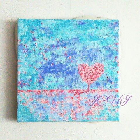油絵  ハートの木