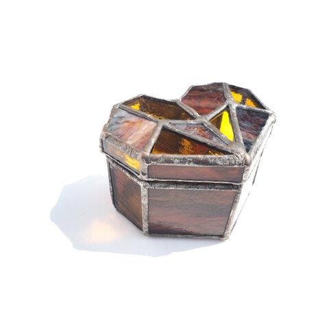 """""""casket of heart-europa-""""ステンド小箱"""