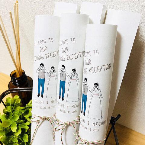 【くるくる席次表 】洋装Mekakushi 結婚式 ウエディング