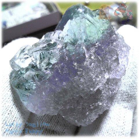 ◆ 秘蔵品 宝石質 特殊希少カラー ブルーフローライト 欠片 結晶 蛍石 原石 No.4901