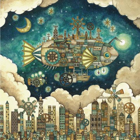 ポスター「空飛ぶ魚の街」