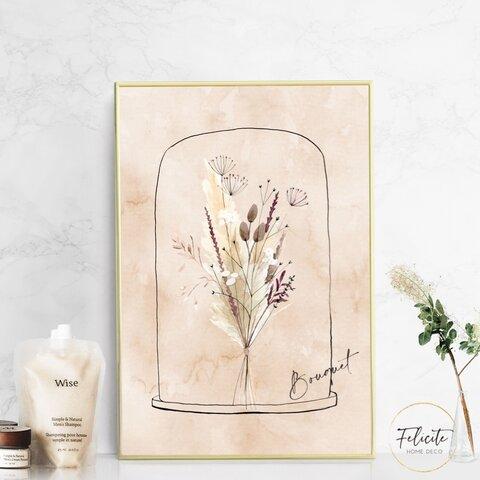 【送料無料】 flower /インテリアポスター アートポスターA4 (サイズアップ可) / illust0283
