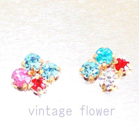 vintage flower earrings vol,2