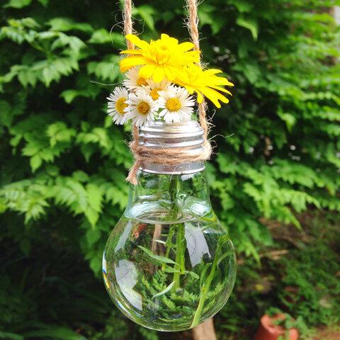 電球テラリウムインテリア ~一輪挿し、花瓶、テラリウム容器に~