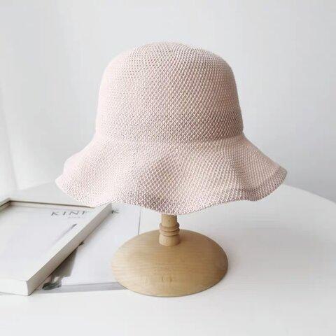 日よけ帽子 ツバ広麦わら帽子 紫外線よけ 折りたためる