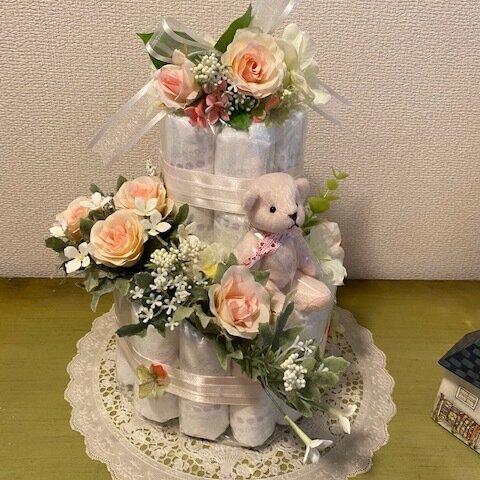 おむつケーキ キャンドルリング pink