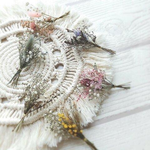 小花 ミニブーケ  アソート 結婚式 ミニ花束 席札 ドライ&プリザーブドフラワー ウェディング bouquet022