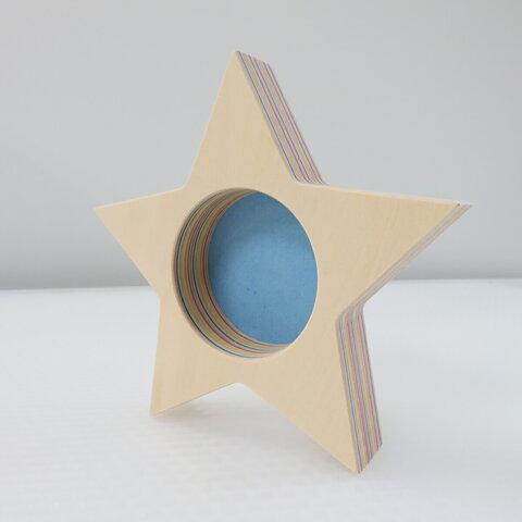 トレイ 木製 星型(大)