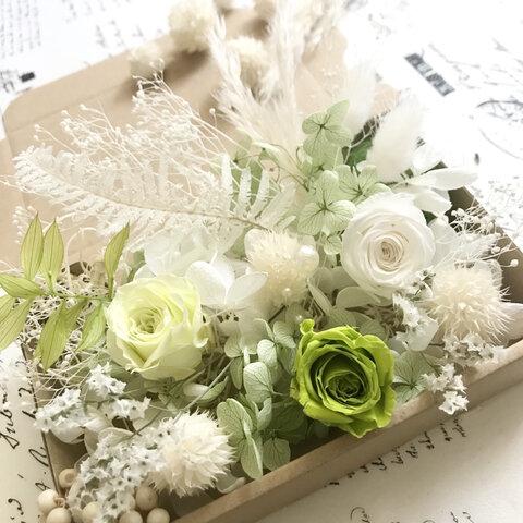 ウェディングホワイトグリーン*花材詰め合わせ