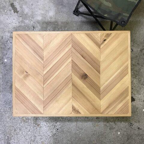古材テーブル天板 フレンチヘリンボーン