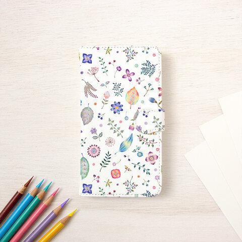"""和の色とりどり。手帳型スマホケース """"紫苑色"""" TSC-415"""