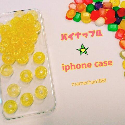 ☆iPhoneケース☆パイナップル☆