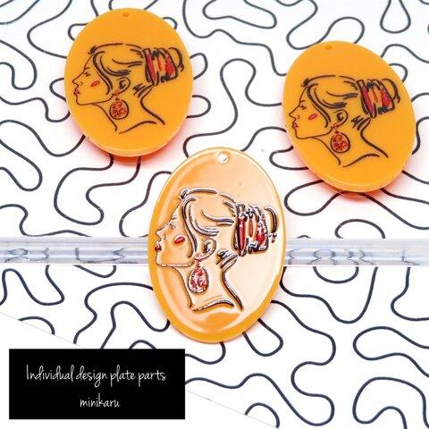 Orange(3pcs) Individual design female face plate parts