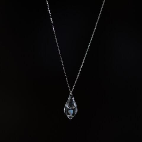 moonアロマネックレス アイス( SV925ニッケルフリーロジウムメッキ カット )