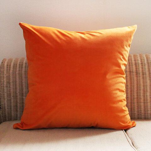 送料無料 オレンジ 60cm クッションカバー 単品