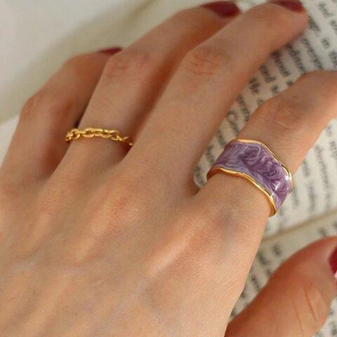 《purple》S925 ring【R-72pu】