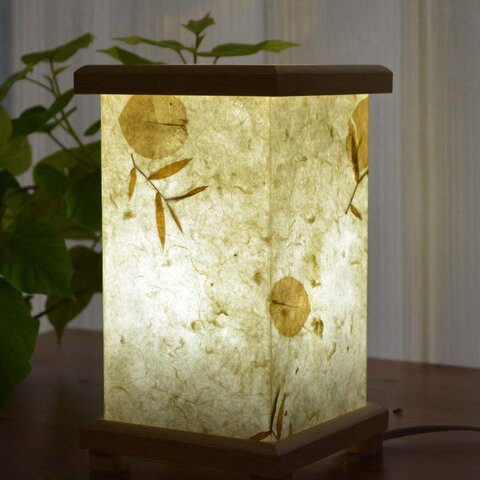 手漉き紙 灯り箱 リーフ 2