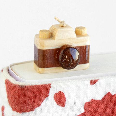 木製カメラしおり(ブックマーカー)