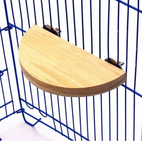 【入荷】15cm半円スプリングボード 鳥の止まり木 小動物の遊び場 いくつかを段々に置くと階段に