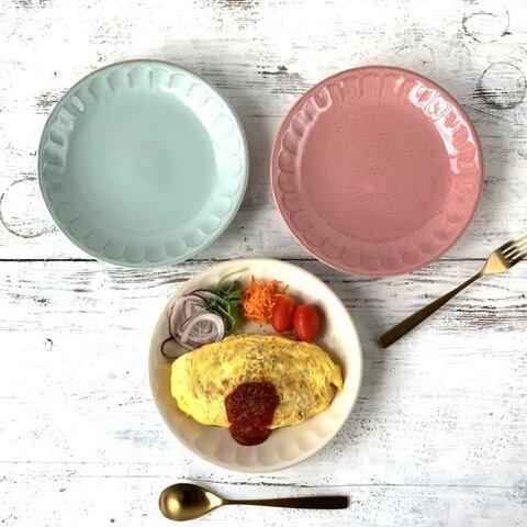 パスタ皿 カレー皿 22cm フルート 3color 日本製 /r106