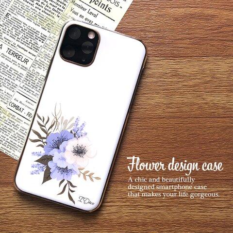 『o』 [m042_a1_h] 全7色 花柄 フラワーデザイン ハードケース  全機種対応 iPhone11 iPhone11Pro iPhone11ProMax スマホ SIMフリー