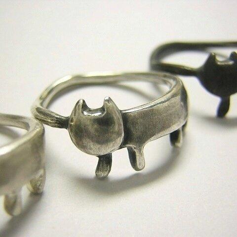 ステネコくん ( 猫 ねこ ネコ 指輪 リング シルバー 925 刻印 文字入れ 名入れ ギフト )