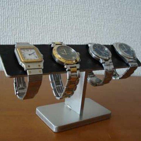 誕生日プレゼントに 4本掛けブラックバー腕時計スタンド ak-design