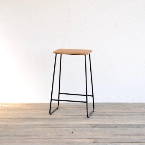 トラぺゾイドスツール HIGH - H630(OAK) / 椅子・チェア