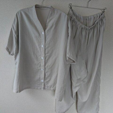 ダブルガーゼの半袖パジャマ