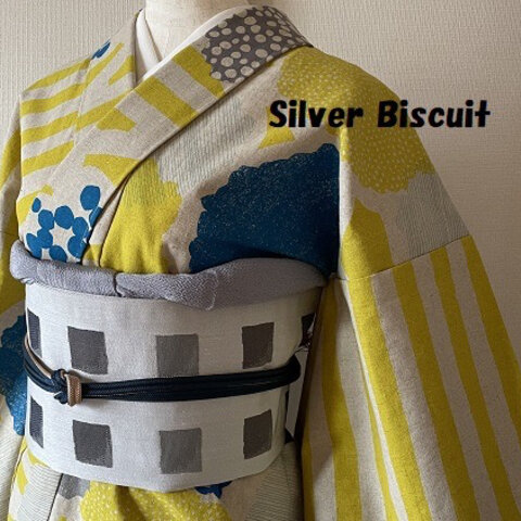 綿麻キャンパス単衣✳︎黄色カラフル!