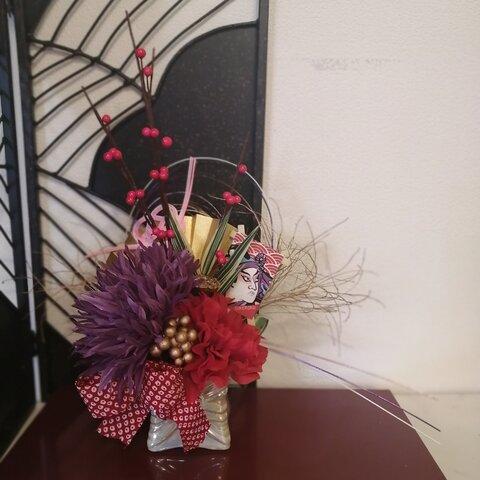 【早割り価格~11月30日まで⠀】2022年✨どこから見ても美しい!紅白の椿 迎春アレンジメント 正月飾り おめでたアレンジメント
