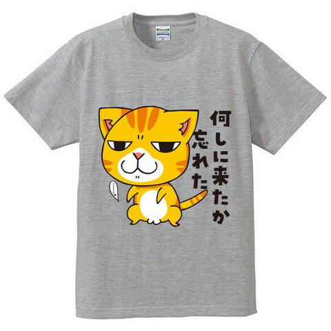店頭販売品3190円→1980円 1点のみ 猫Tシャツ 何しに来たか忘れた 男女兼用L