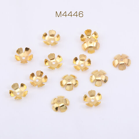 M4446  300個  花座 No.103 座金 9×9mm ゴールド  3×【100ヶ】