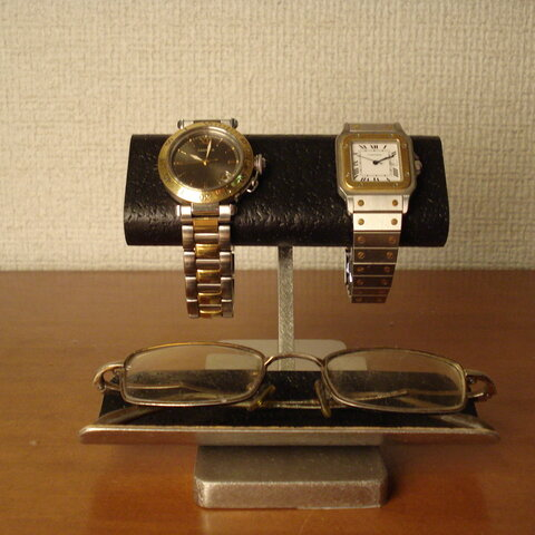 腕時計スタンド ブラックコルクだ円パイプ腕時計、眼鏡スタンド No.111226