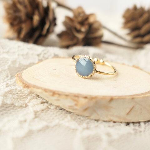 ◆秋 くすみカラー◌ベイクドブルー◌【指輪/リング】◆