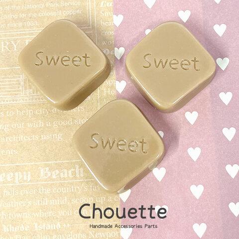 全品送料無料 スイーツチョコレートデコパーツ 3個【Sweet/チョコ】 ハンドメイド  手芸材料 pt-1645