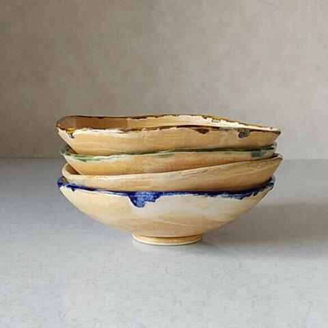 《4点セット》陶の浅鉢 ~ミルクティに一味プラス~