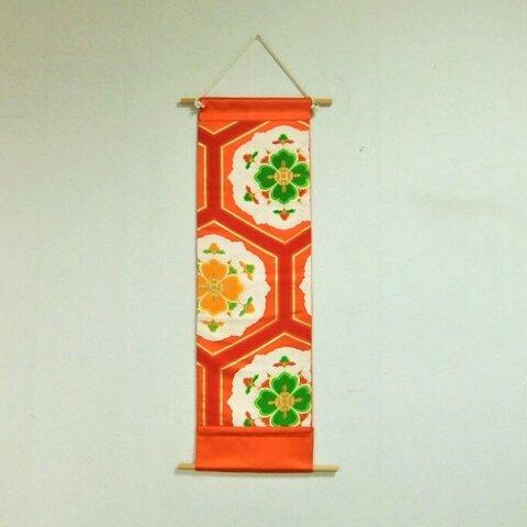 【⑯0322】2WAY使用/帯リメイク品・新品古典柄/タペストリー&テーブルランナー