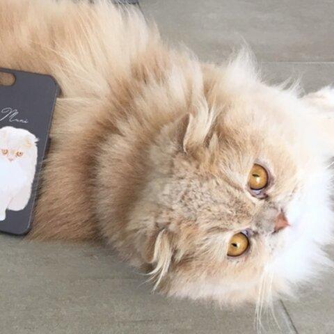 うちの子 大人シックなイラストスマホケース│犬 猫 似顔絵