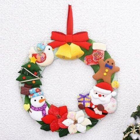 押絵飾り『クリスマスのリース』