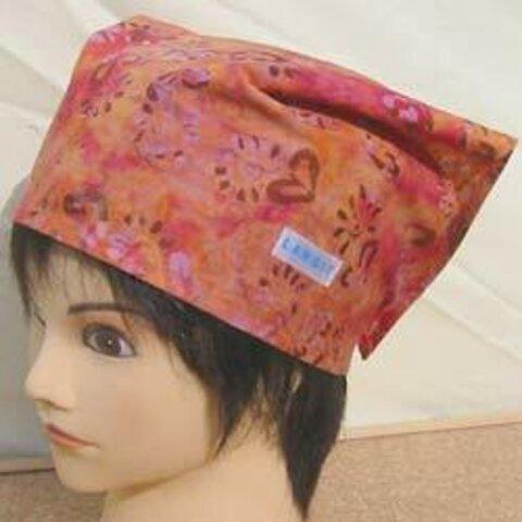 バティック 三角巾帽子 03 53cm~56cm