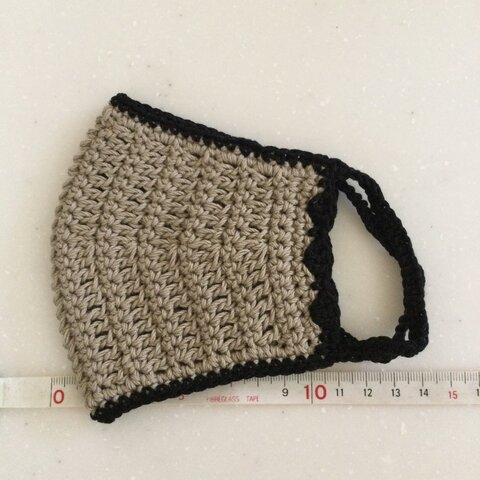 390手編みのマスクカバー 32